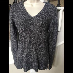 V-Neck Sweater with attached Hoodie